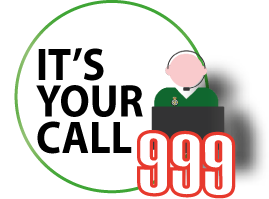 Its your call white logo straight 999