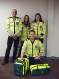 The new Cardea CFR group. Back row: Kelvin Newton, Charlotte Hamilton, Emma Taylor. Front row: Alex Burch.