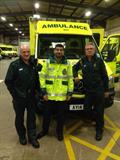 From left to right: Emergency care assistant Darren Emerton, Kay Kokabi from Healthwatch Luton and paramedic Mick Bunker