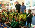 Paul and Karen with pupils from Little Gaddesden Church of England Primary School in Berkhamstead