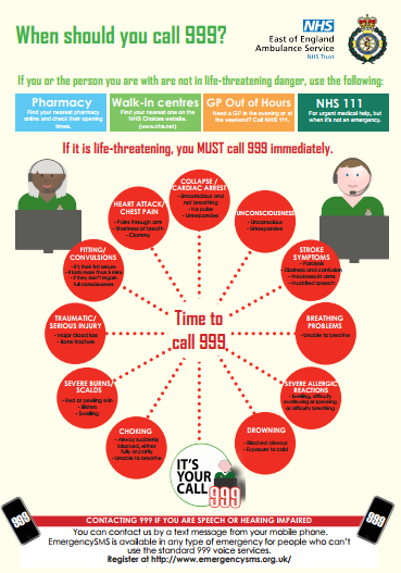 When should you call 999?