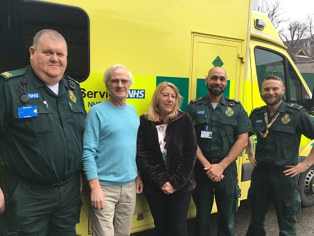 Colin Goff meets his lifesavers