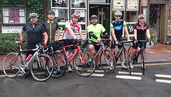 The Finnbar 500 team members during a training ride.