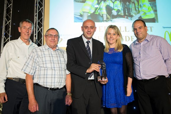 Haverhill CFRs Keith Jesson, Stan Pridmore, Ahmet Mustafa, Julie Griffey and David Halsey. Courtesy of Cambridge News.