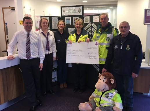 Haverhill CFRs receive £610 from Saffron Building Society