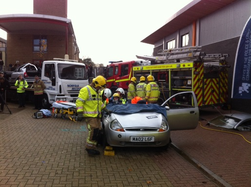 Impact road safety event at City College Norwich