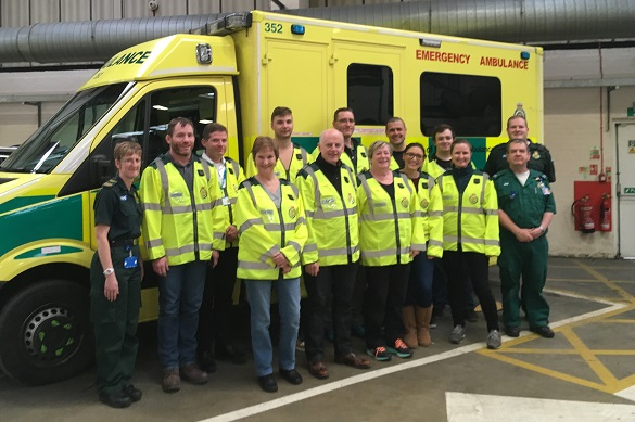 Luton Community First Responders after completed training