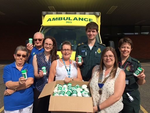 The Lions Club of Ipswich donate Message in a Bottle jars to EEAST