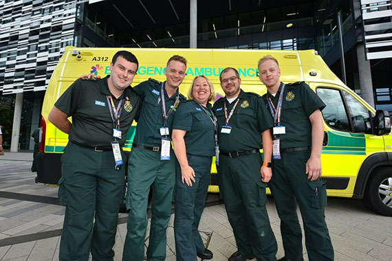 EEAST Staff at the National Ambulance LGBT Network Conference 2018