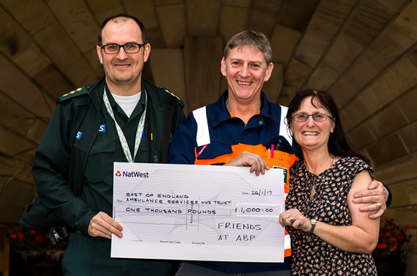 Neil Ayers Cheque Presentation