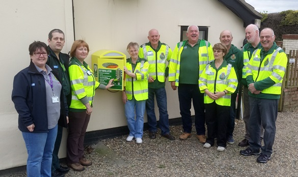 CFRs unveil the new defibrillator at Rumburgh