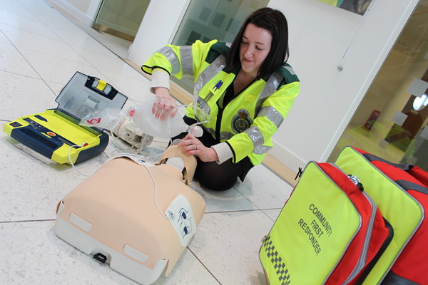 A CFR with some of the training equipment the groups use