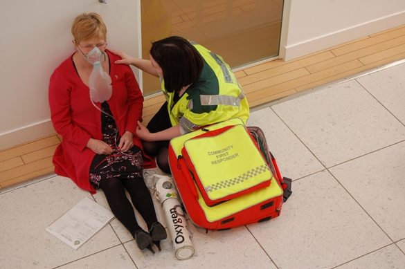 CFRs attend emergencies where they live or work.