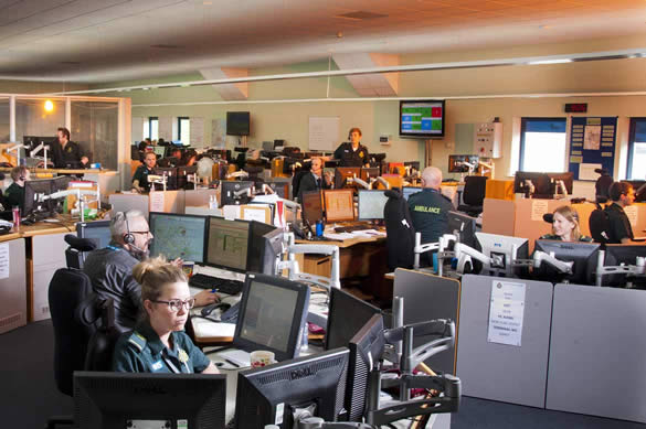 Wide shot ogf the Norwich EOC room.