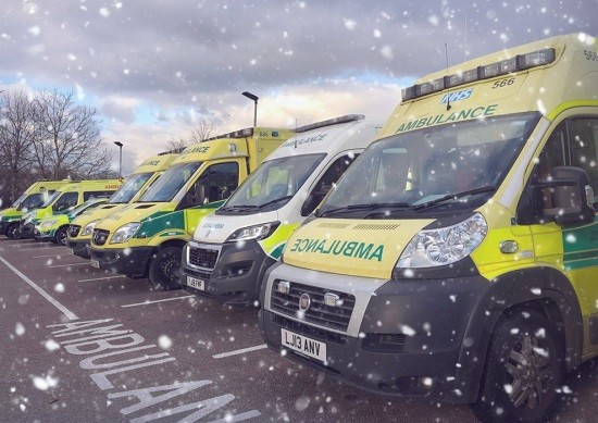 Ambulances with Snow