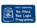 were supporting the mind blue light programme small blue